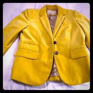 Yellow Velvet Blazer